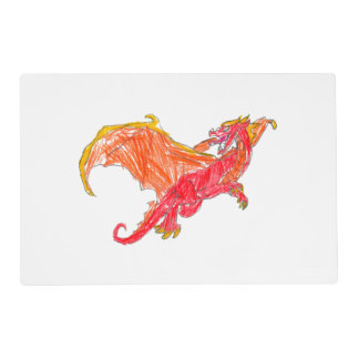 Winged Red Dragon Placemat