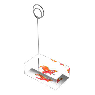 Winged Red Dragon Table Number Holder