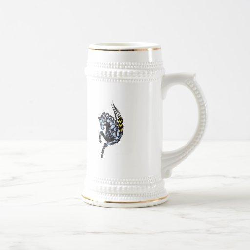 Winged Robot Horse Coffee Mugs