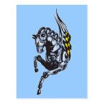 Winged Robot Horse Postcard