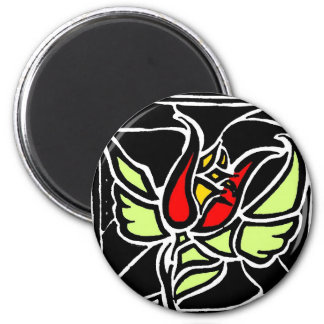 winged rose fridge magnets