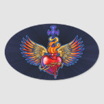 Winged Sacred Heart Design Stickers