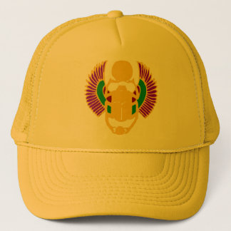 winged scarab beetle Egyptian design abstract Trucker Hat