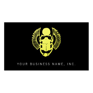 Winged Scarab Business Card Templates