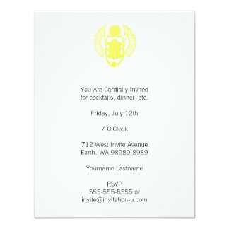 Winged Scarab 4.25x5.5 Paper Invitation Card
