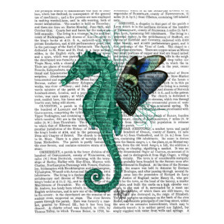 Winged Seahorse Postcard