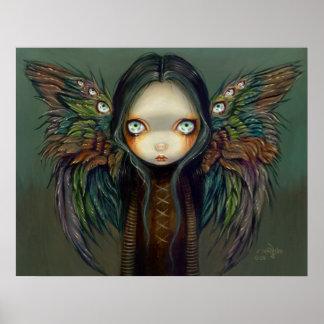 Winged Seer gothic angel fairy Art Print