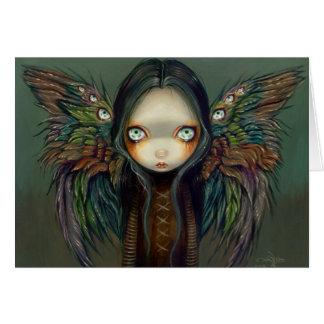 """""""Winged Seer"""" Greeting Card"""