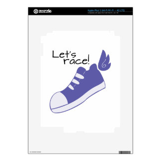 Winged Shoes Lets Race! Decal For iPad 3