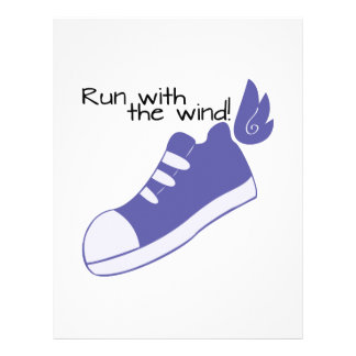 Winged Shoes Run with the Wind! Letterhead Design