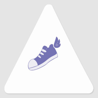Winged Shoes Triangle Sticker