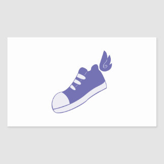 Winged Shoes Rectangular Sticker