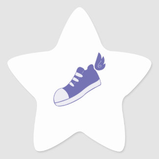 Winged Shoes Star Sticker