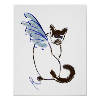 Winged Siamese Poster