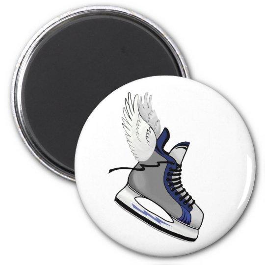 winged skate magnet