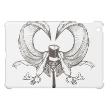 winged skeleton with top hat iPad mini cover