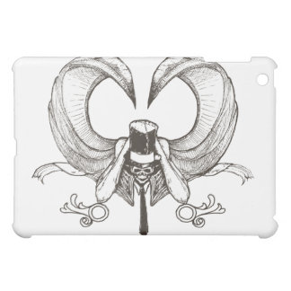 winged skeleton with top hat iPad mini covers