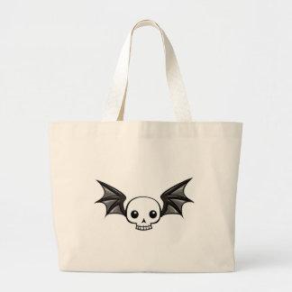 Winged skull bag