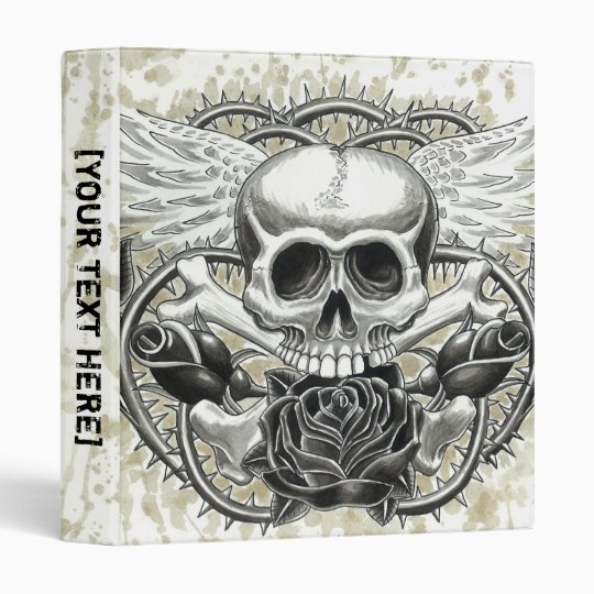 Winged Skull Binder Template