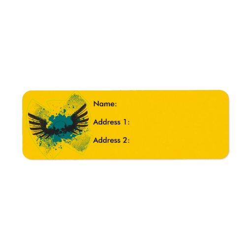 Winged Skull Custom Return Address Labels
