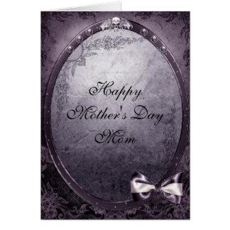 Winged Skull Elegant Vintage Gothic Mother's Day Cards