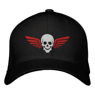 Winged Skull Embroidered Baseball Cap