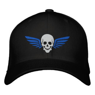 Winged Skull Embroidered Baseball Caps