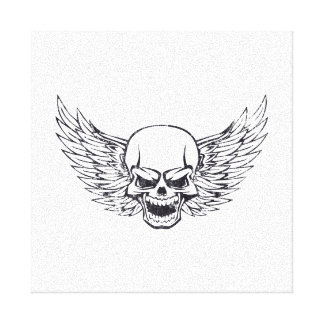 Winged Skull Gallery Wrapped Canvas