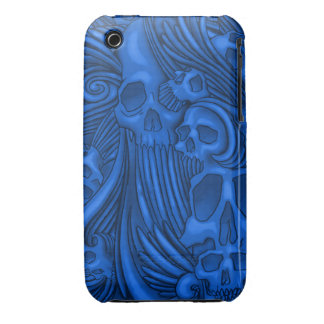 Winged Skull Gothic Illustration iPhone 3 Covers