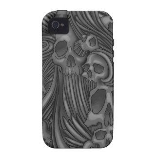Winged Skull Gothic Illustration iPhone 4/4S Cases