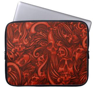 Winged Skull Gothic Illustration Laptop Sleeve