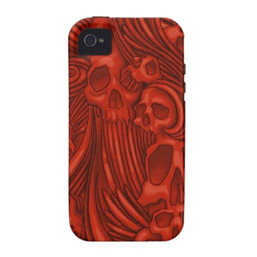 Winged Skull Gothic Illustration Vibe iPhone 4 Cases