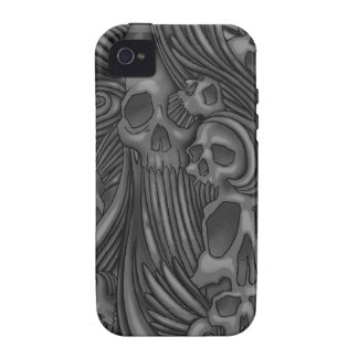 Winged Skull Illustrated Tough iPhone 4 iPhone 4/4S Cover