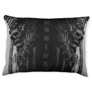WINGED SKULL Macabre Stone Pet Bed