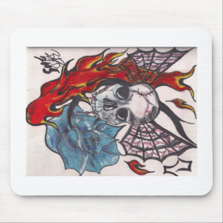 Winged Skull Mouse Pad