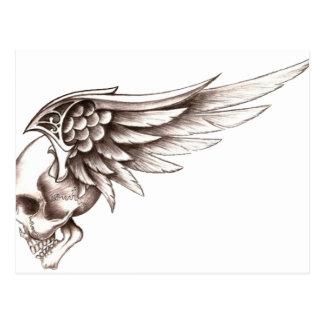 Winged Skull Postcard