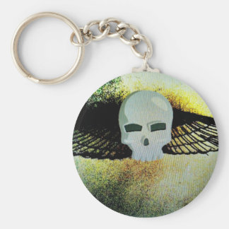 WINGED SKULL PSYCHEDELIC PRINT KEYCHAIN