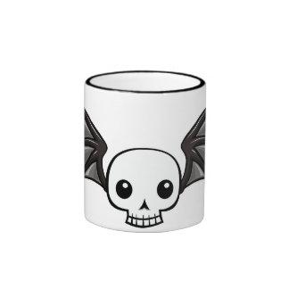 Winged skull ringer mug