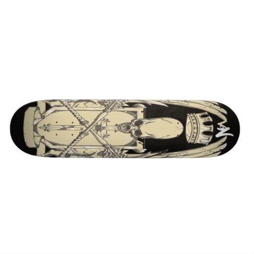 winged skull skate boards
