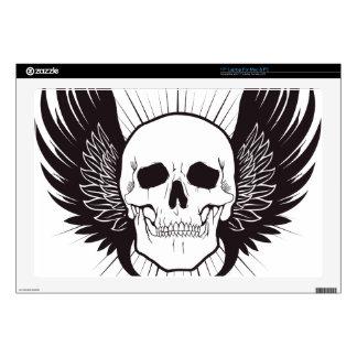 Winged Skull Laptop Skin