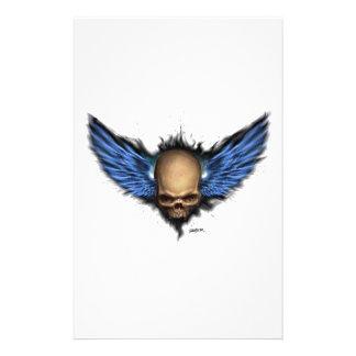 Winged skull stationery
