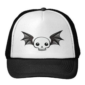 Winged skull trucker hat