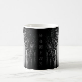 WINGED SKULLS Macabre Facade Custom Name Coffee Mug