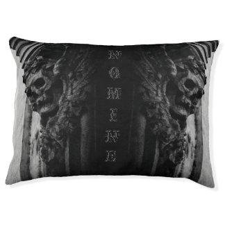 WINGED SKULLS Macabre Facade Custom Name Pet Bed