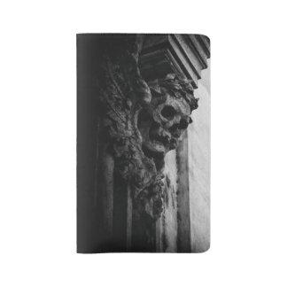 WINGED SKULLS Macabre Stone Large Moleskine Notebook