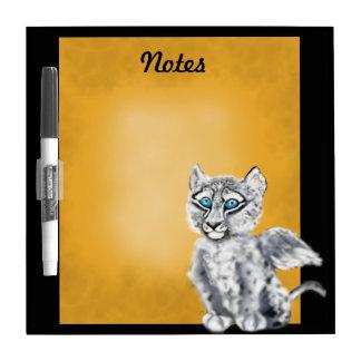 Winged  Snow Leopard Dry-Erase Board