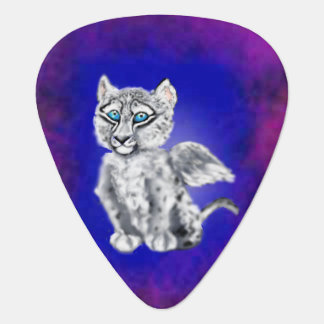 Winged  Snow Leopard Guitar Pick