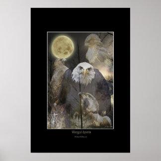 WINGED SPIRITS Raptor Art Poster