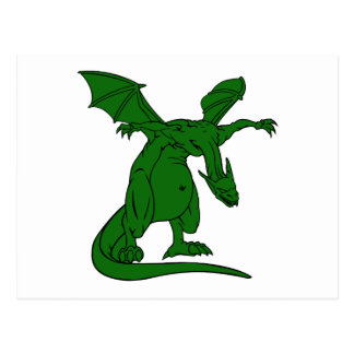 winged standing mean dragon green.png post cards
