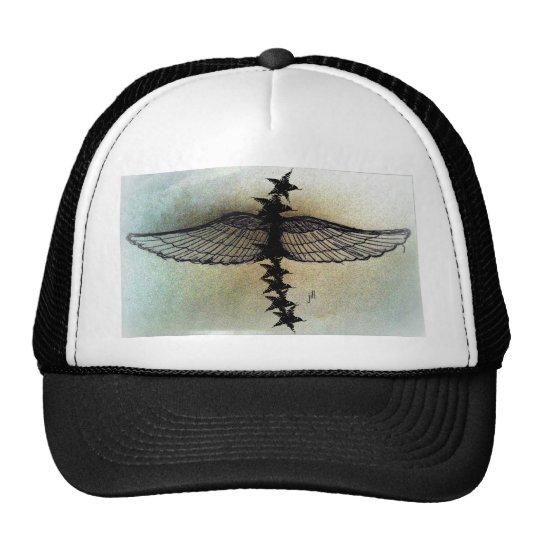 Winged Stars in flight, matte print by jill Trucker Hat